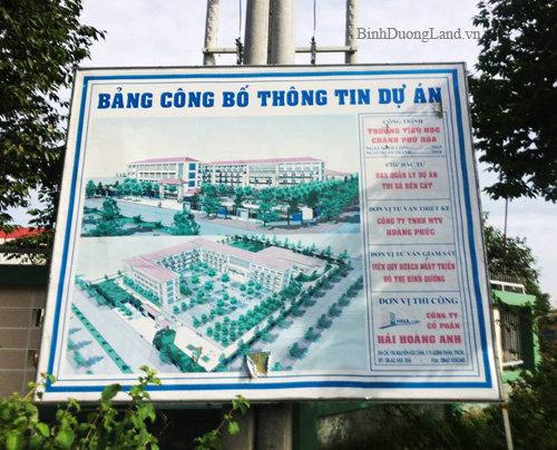 Thông tin dự án trường tiểu học Chánh Phú Hòa